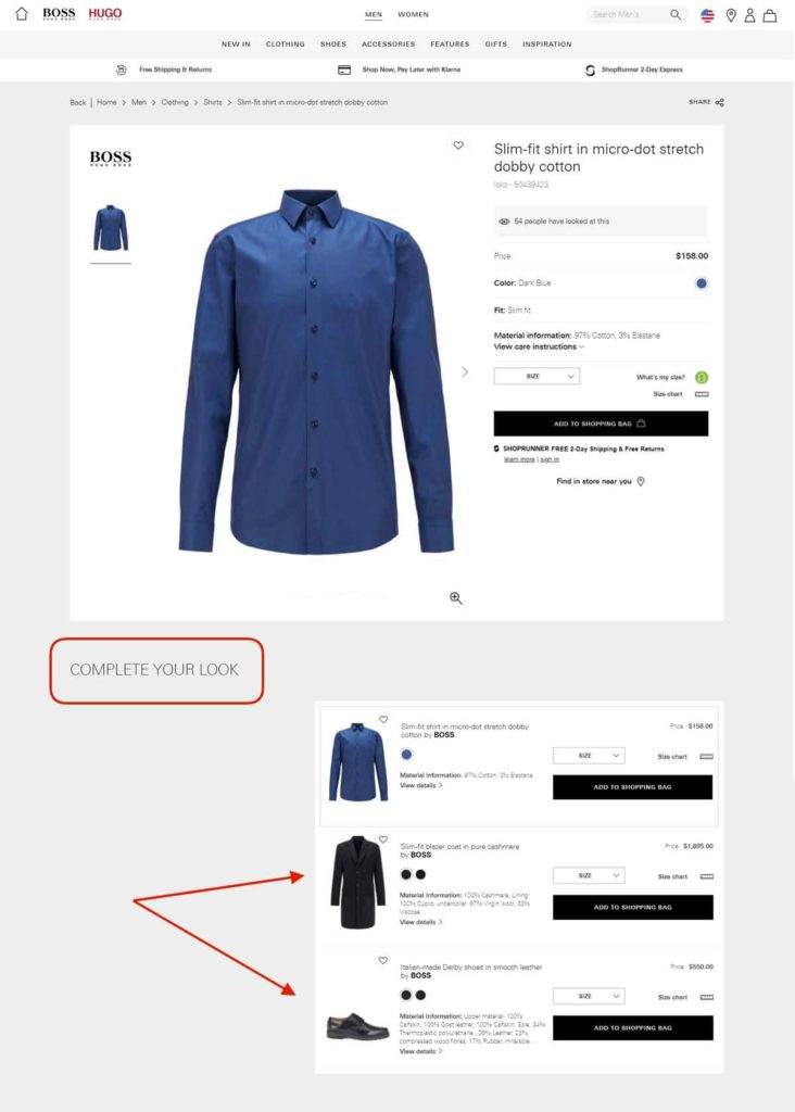 Complete your look picks on the official Hugo Boss website