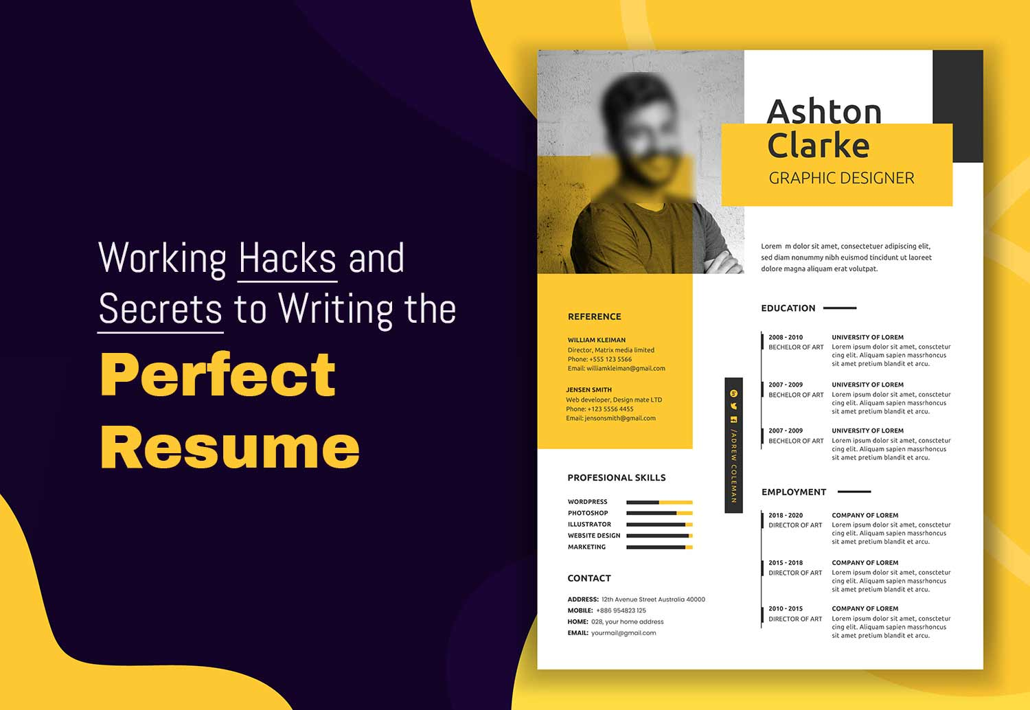 Working Hacks and Secrets to Writing the Perfect Resume
