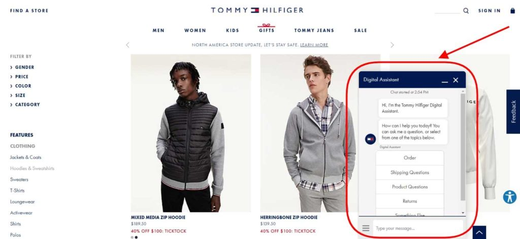 Tommy Hilfiger Digital Assistant