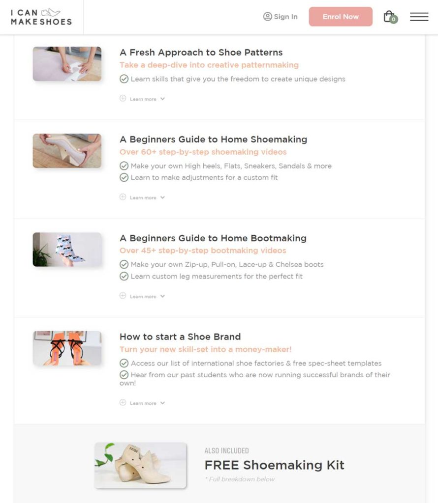I can make shoes - Shoemaking online course