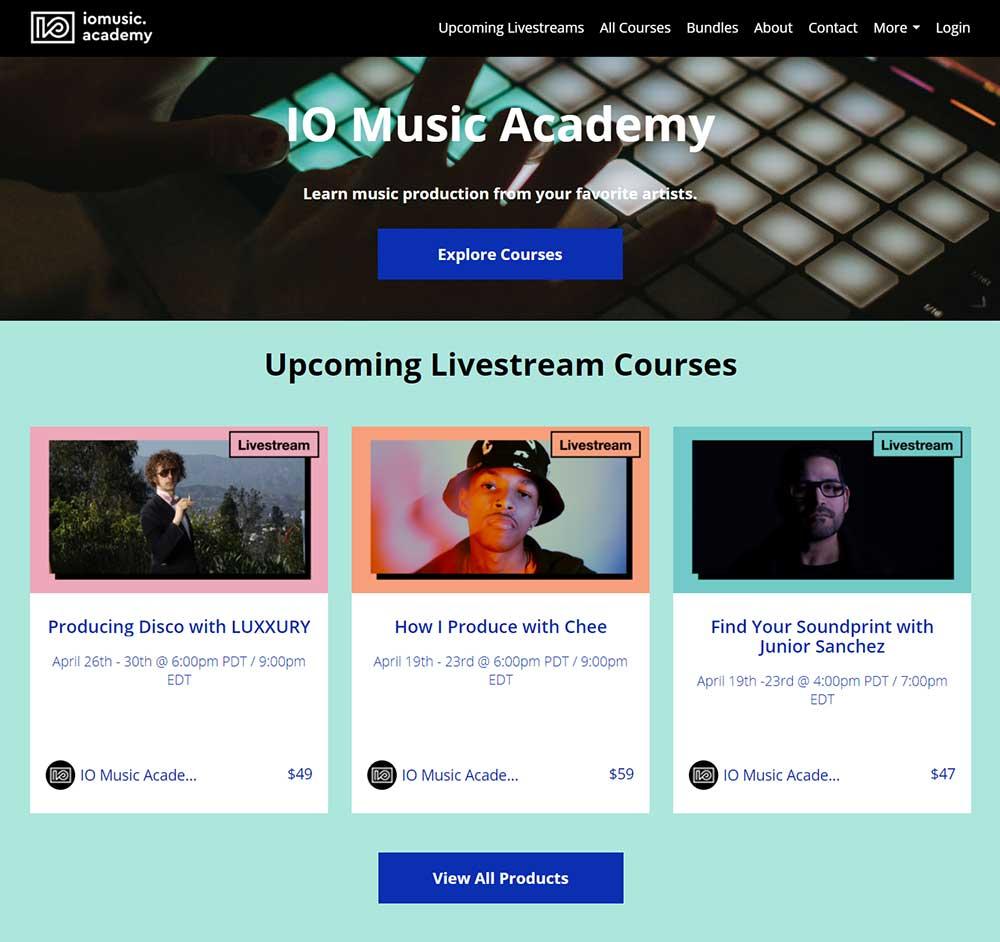 IO Music Academy - Livestream courses