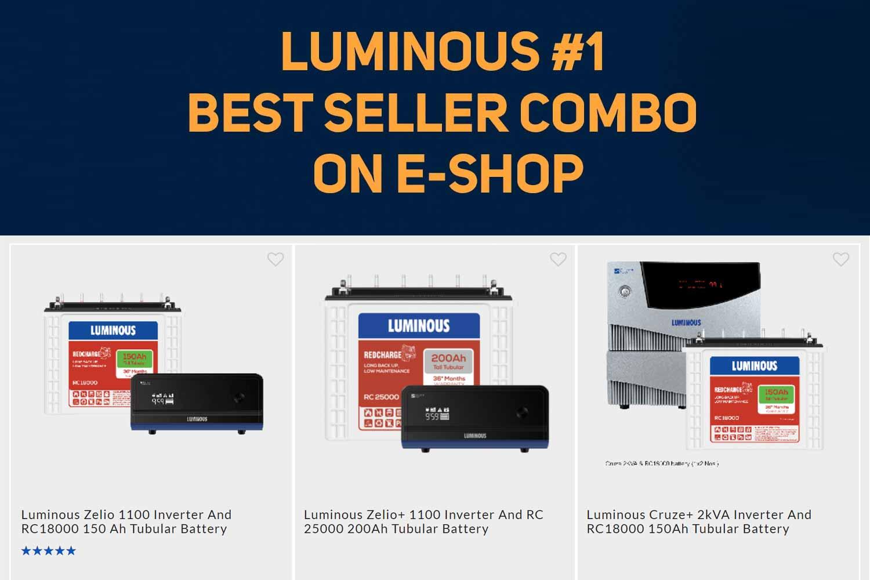 Luminous best seller combo inverters
