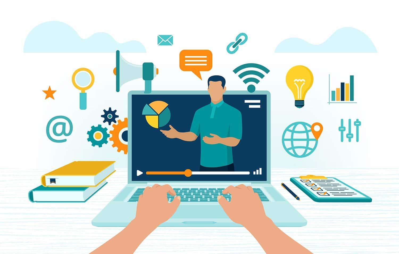 Online courses, online coaching, online training