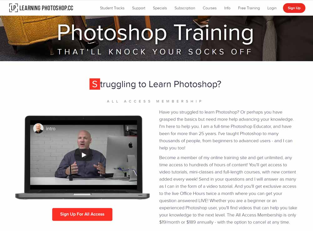 Photoshop training - Learn photoshop by Dave Cross