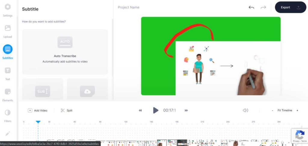 Veed free online video editor