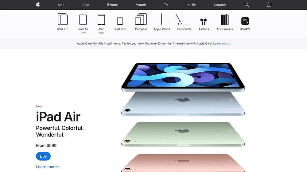 Apple inc. website content