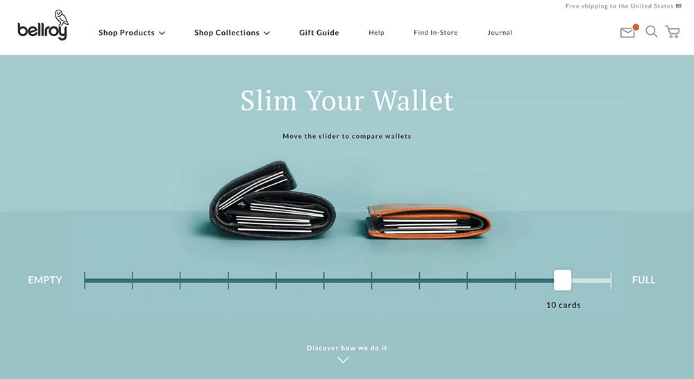 Bellroy minimalist wallet card holder