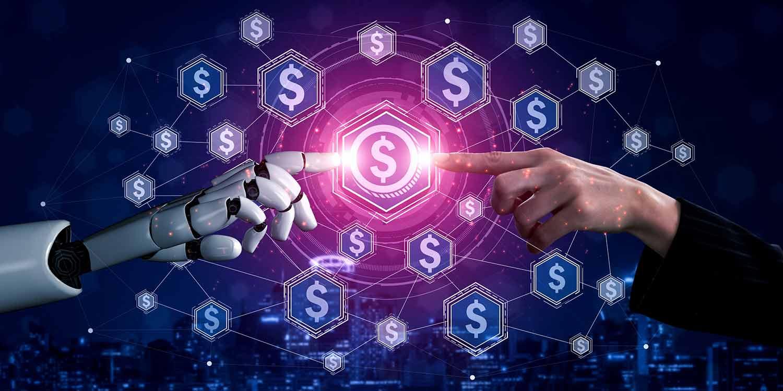 Future artificial intelligence robot cyborg