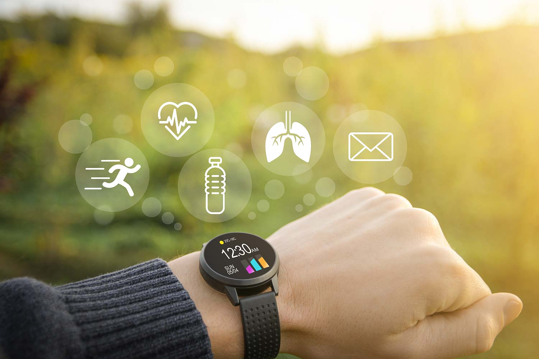 Smart watch fitness tracker hand
