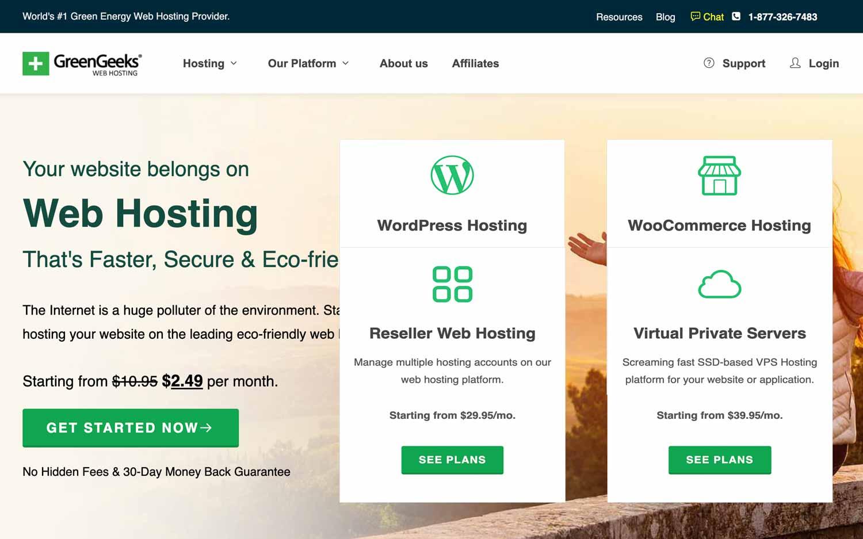 GreenGeeks - Web hosting
