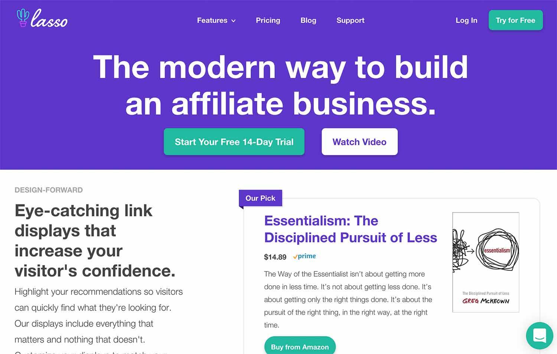 Lasso plugin for WordPress affiliate marketing tool
