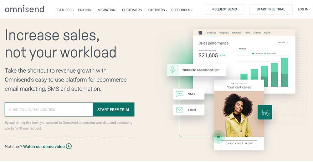Omnisend - eCommerce email marketing and sms automation software
