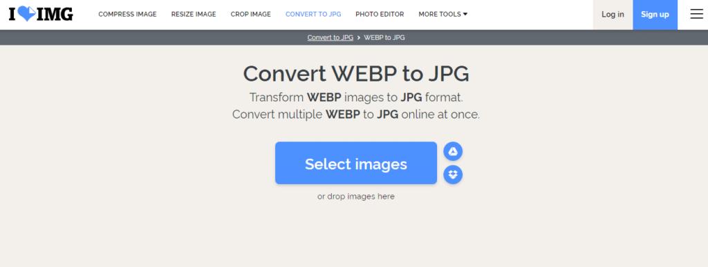 iloveimg - Convert WebP to JPG