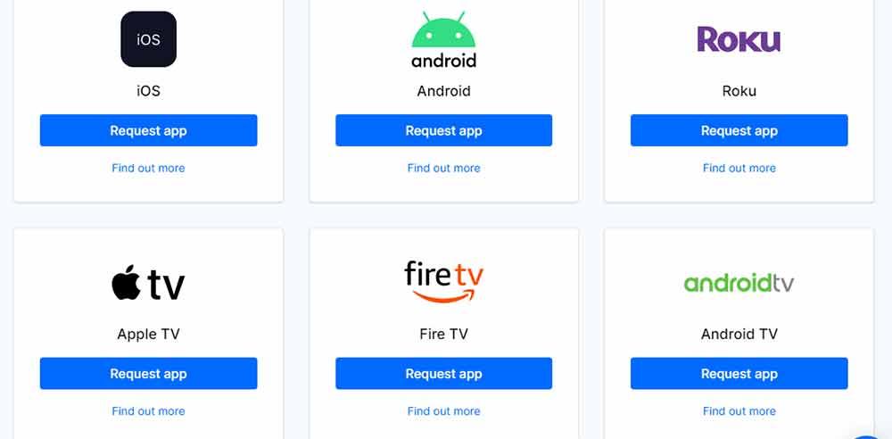 Uscreen apps on multiple OTT platforms