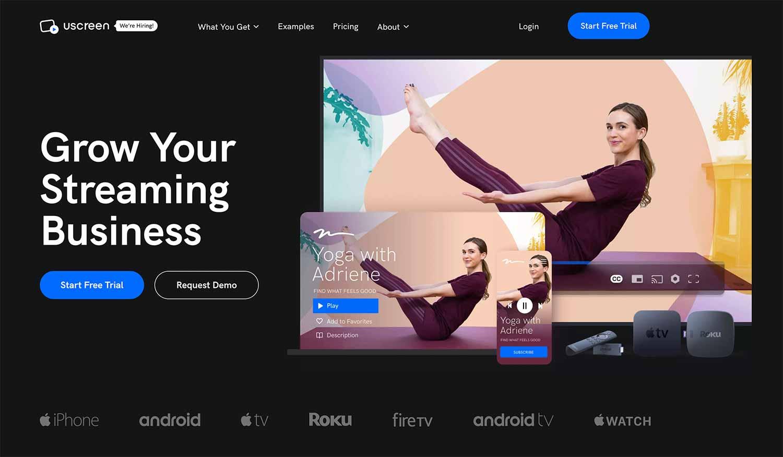 Uscreen an online video streaming business
